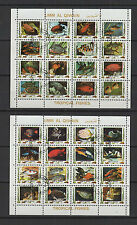 poisson  Umm Al Qiwain  2 feuilles de 16 petits timbres oblitérés / T1454