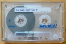 SONY SUPER EF90 VINTAGE USED CASSETTE TAPE ROLAND JUPITER 8 FACTORY DATA
