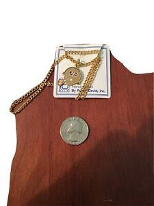 San Francisco 49ers Helmet Team Logo Pendant With Gold tone necklace.