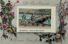 San Sebastian,Spain,Basque Country,Puente de Maria Cristina,c.1909