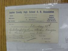 County High School 10/10/1934 Leyton viejo chicos Asociación: tarjeta de selección V Albi