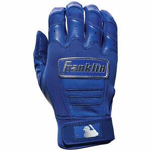 Mens Franklin CFX Pro Full Color Chrome Series Batting Gloves Blue Silver