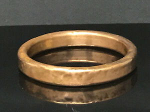 Antique Childs Copper Bangle Bracelet Tribal Hand Made Unusual Small
