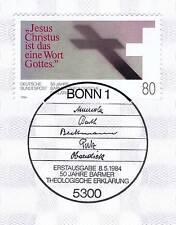 BRD 1984: Barmer Theologische Erklärung Nr 1214 mit Bonner Sonderstempel! 1A 156