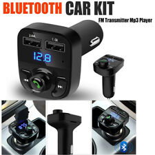 NEW Bluetooth Car Kit Wireless FM Transmitter Dual USB Charger Audio MP3 Players