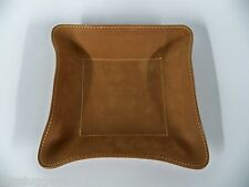Mulholland Brothers All Leather Change Base, Coin & Key Tray, Lariat, Great Gift