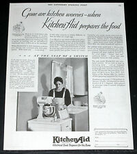 1929 OLD MAGAZINE PRINT AD, KITCHEN AID, ELECTRICAL FOOD PREPARER FOR THE HOME!