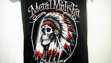 METAL MULISHA NATIVE Girls Women T Shirt Size L black  Short Sleeve V-Neck NEW
