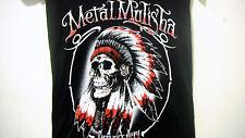 METAL MULISHA NATIVE Girls Women T Shirt Size L black  Short Sleeve V-Neck NEW