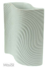 Small White Modern Wavy Twisted Flower Vases Grass Ceramic Pottery Unusual New
