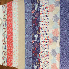 "Jelly roll, 20 x 2.5"" wide strips 100% cotton craft fabric - butterfly design"