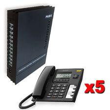 Centralino telefonico analogico 3/8 linee 5 telefoni manuale italiano centralini