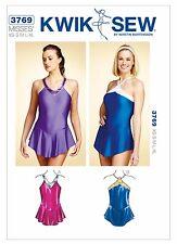 K3769 KWIK SEW 3769 OOP Sewing Pattern Ice Skating Leotards Dance Costume XS-XLG