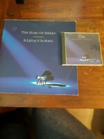 Disney CD & Book 1992 The Music of Disney A Legacy in Song GC cover wear 27 Song