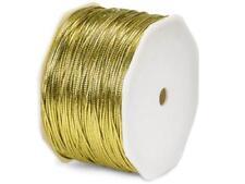 2 Unit Gold Metallic Tinsel Braided Cord1/16 x100 yds Ribbon Unit pack 1