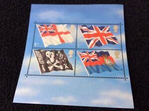 22 Oct 2001 - Royal Navy Flags mini sheet. MNH