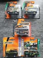Matchbox Landrover Defender Congo Red Black Discovery Green Grey SVX Swamp Tours