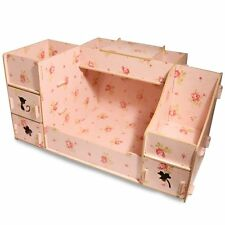Wooden Cosmetic Organizer Makeup Drawers Case Box Jewellery Storage Display New