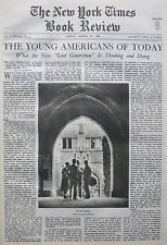 MAXINE DAVIS - THE LOST GENERATION  ON CAMPUS 1936 March 22 NY Times Book Review