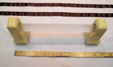 """1 pair *Butter Yellow* Glossy Ceramic Towel Brackets-Post + 24"""" poles   """"NOS"""""""