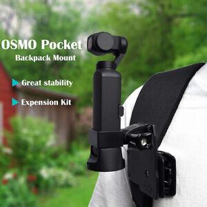 Backpack Clip Mount Tripod Black For DJI Pocket 2 /OSMO Pocket Camera Stabilizer