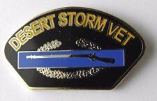Operation Desert Storm Gulf War Veteran Combat Vet USA Lapel Pin Badge 1 inch