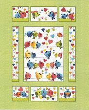 "Susybee Evie the Bird Panel by Susybee 100% cotton 43"" x 35"" fabric panel"