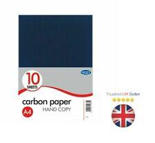 Carbon Copy Paper Black A4 (10 Sheets) Hand Copy Duplicate Copy Paper UK SELLER