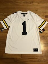 NWT Michigan Wolverines Jordan Team Issued Mens Jersey #1 Size Large $100