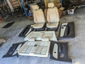 BMW 135i Convertible Cream Leather Seats and Interior