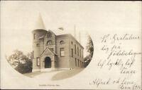 Princeton MA Town Hall c1910 Real Photo Postcard
