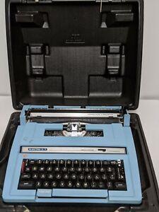 Vintage Smith Corona Electra C/T  Blue Electric Typewriter