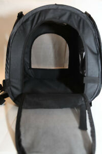 Black Squared Pet Carrier for Outdoor Traveling - Dual Mesh Openings - Puppy/Cat