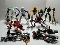 Lego Bionicle Figure Lot of 6+ Garai Vohtarek Tryna Kualsi With Bonus Parts