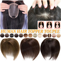 Mono Hand Made Real Remy Human Hair Clip in Topper Toupee Top Piece Extensions G