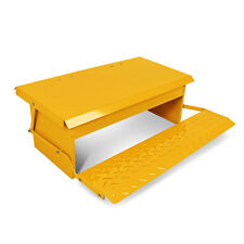 5kg Chicken Feeder Automatic Treadle Self Opening Duck Food Yellow
