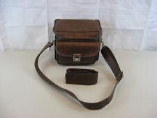 Vintage Faux Leather Camera Bag Brown