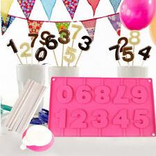 Stampo in Slicone per Choco Cake Pops Forma Numeri Stecchi e Dosatore per Feste