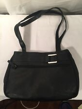 Black And Silver Handbag Purse Faux Buckle and Lots of Zippers New Without Tags