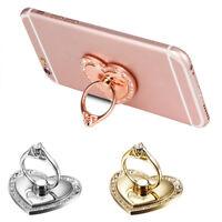 Universal 360 Rotating Love Heart Finger Ring Stand Holder For Cell Phone Tablet