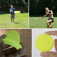 Mini Frisbee Finger Spin Sports Yellow Catching Flexible Flying Disc Silicone