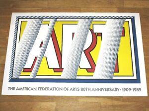 """Roy Lichtenstein Poster """" Type / Reflections """" Pop Art Poster IN Mint"""