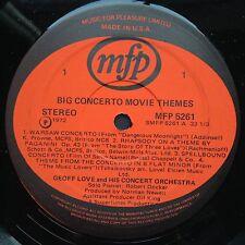 Import! Geoff Love BIG CONCERTO MOVIE THEMES Film Scores LP '72 Spellbound Rozsa