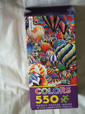 "New 2017 Ceaco Colors Balloon World 550 pc Jigsaw Puzzle + Poster 18"" x 24"""