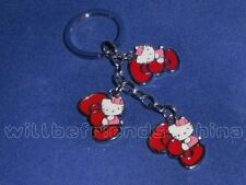 Cute Hello Kitty Bowknot Metal Keychain Keyring Decoration Charm Red