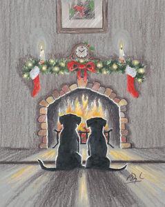 Cute Labrador Retriever Christmas cards pack of 10 C442x CHRISTMAS COMFORT