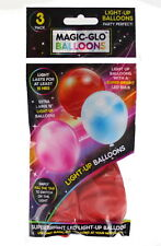 Magic-Glo LED Party Birthday Balloons - Extra Large & Super Bright - 3 pc