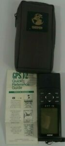 Garmin GPS 12 Channel Handheld Navigational Device with Reference Guide & Case