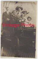 Family Pose in Automobile Early 1900's Coney Island Photo Bathing Beauty Sleeve