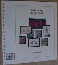 Sudetenland Niklasdorf 1938 Vordruck T-System farbig